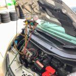 エアコン点検 エアコン整備 ガスチャージ