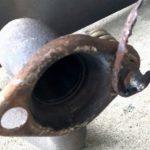マフラ修理 フランジ 溶接修理